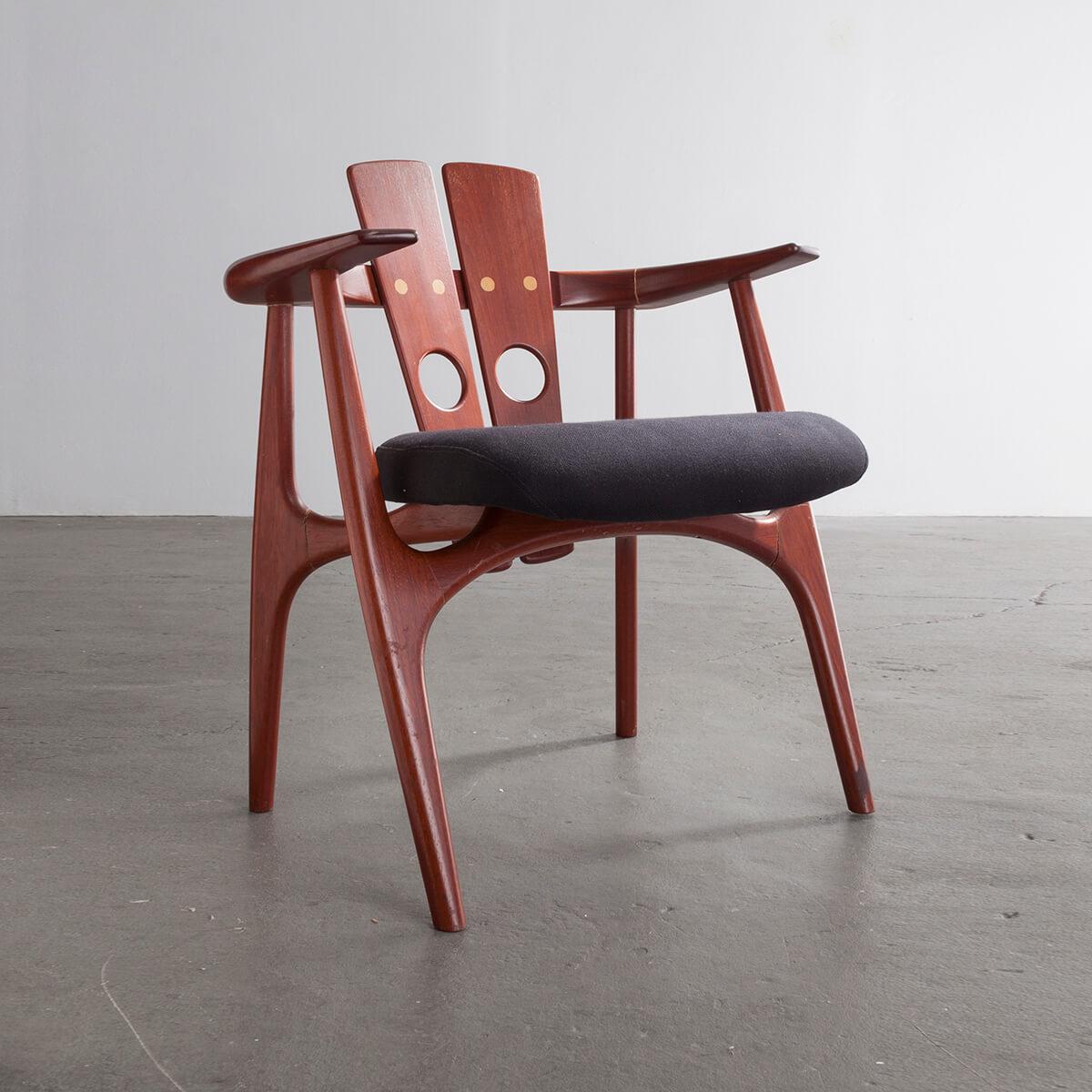 Astounding Katita Chair In Jatoba Brazilian Cherry Wood By Sergio Machost Co Dining Chair Design Ideas Machostcouk