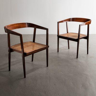 Pair of chairs in jacaranda