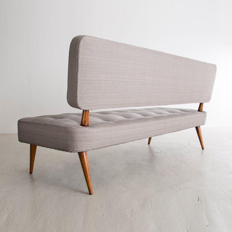 Sofa with jacaranda frame and upholstered seat
