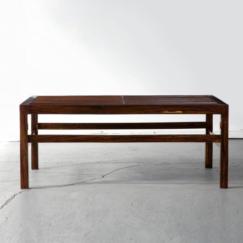 Slatted coffee table