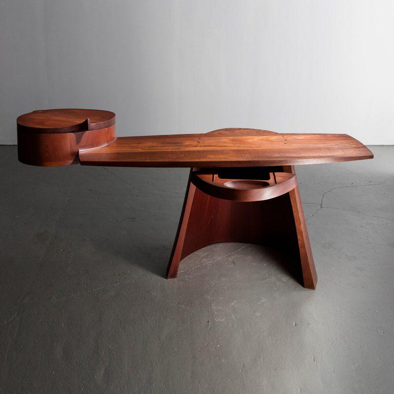 Unique desk in hand-carved Honduran Mahogany