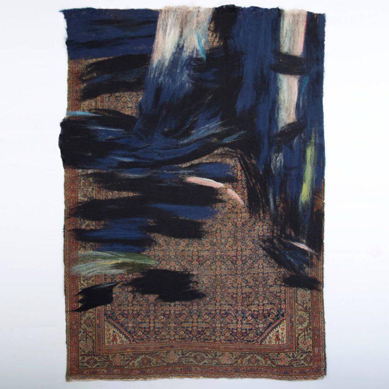 'RETOLD: Malayer Black and Blue' carpet