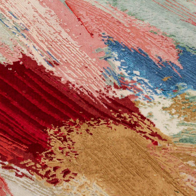 'Rain Flower' rug in wool