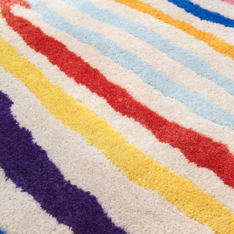 'Fruit Stripe' quagga carpet in wool.