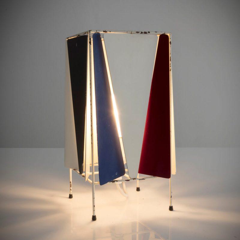 Bergboms B-4 desk lamp in enameled metal.